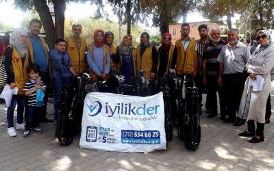 توزيع 15 كرسي متحرك لذوي الاحتياجات الخاصة في غازي عنتاب