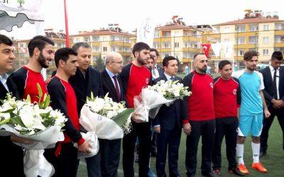 افتتاح الدوري السوري الرسمي الأول لكرة القدم في غازي عنتاب