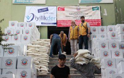 توزيع 5000 سلة غذائية على العوائل السورية المحتاجة في مدينة غازي عنتاب